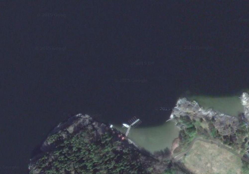 Satellitbild över dykplatsen Ormestad